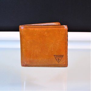 Guess Mens Brown Leather Bifold Wallet